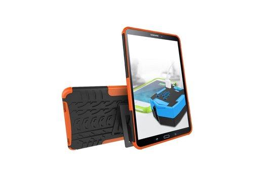 Samsung Galaxy Tab A 10.1 (2016) - Stevig Heavy Duty Tablet Case Schokbestendig Met Kickstand - Oranje
