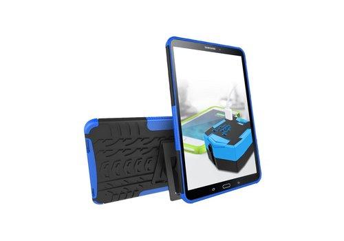 Samsung Galaxy Tab A 10.1 (2016) - Stevig Heavy Duty Tablet Case Schokbestendig Met Kickstand - Blauw