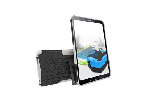 Samsung Galaxy Tab A 10.1 (2016) - Hoesje Stevig Heavy Duty Tablet Case Schokbestendig - Wit