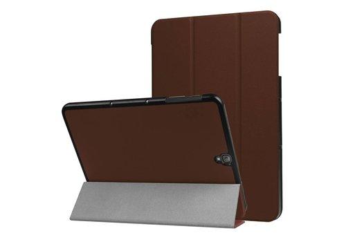 Samsung Galaxy Tab S3 9.7 - PU Lederen Case Cover Tri-fold Stand - Bruin