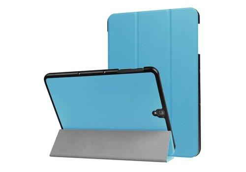 Samsung Galaxy Tab S3 9.7 - PU Lederen Case Cover Tri-fold Stand - Licht Blauw