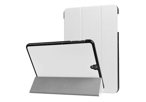 Samsung Galaxy Tab S3 9.7 - PU Lederen Case Cover Tri-fold Stand - Wit
