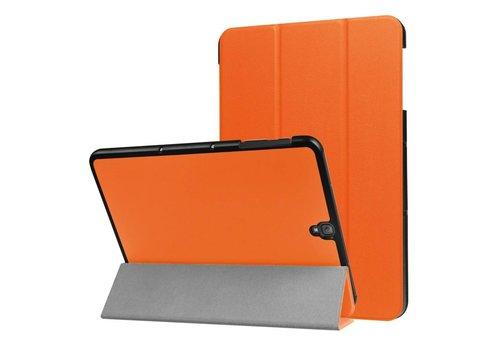 Samsung Galaxy Tab S3 9.7 - PU Lederen Case Cover Tri-fold Stand - Oranje