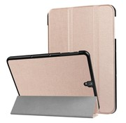 GSMWise Samsung Galaxy Tab S3 9.7 - PU Lederen Case Cover Tri-fold Stand - Roze/Goud