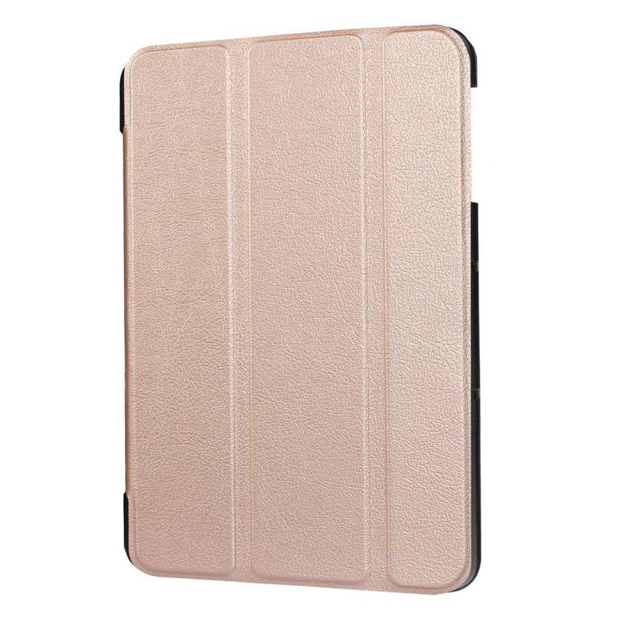 Samsung Galaxy Tab S3 9.7 - PU Lederen Case Cover Tri-fold Stand - Roze/Goud