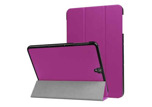 Samsung Galaxy Tab S3 9.7 - PU Lederen Case Cover Tri-fold Stand - Paars
