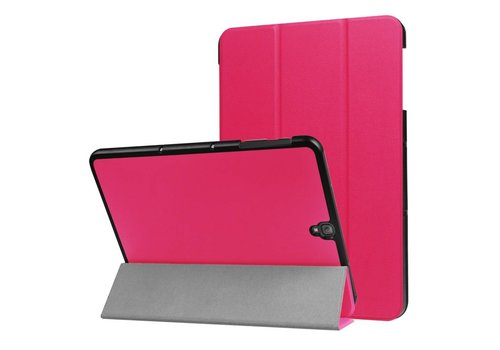 Samsung Galaxy Tab S3 9.7 - PU Lederen Case Cover Tri-fold Stand - Rose