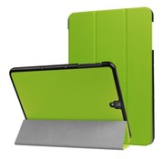 GSMWise Samsung Galaxy Tab S3 9.7 - PU Lederen Case Cover Tri-fold Stand - Groen