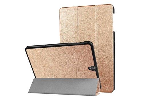 Samsung Galaxy Tab S3 9.7 - PU Lederen Case Cover Tri-fold Stand - Goud