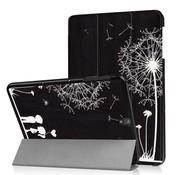 GSMWise Samsung Galaxy Tab S3 9.7 - Smart Case gemaakt van PU Lederen - Paardenbloem en Lovers - Zwart