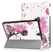 GSMWise Samsung Galaxy Tab S3 9.7 - Smart Case gemaakt van PU Lederen - Meisje met vleugels - Wit