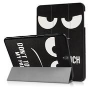 GSMWise Samsung Galaxy Tab S3 9.7 - Smart Case gemaakt van PU Lederen - Do Not Touch - Zwart