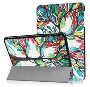 GSMWise Samsung Galaxy Tab S3 9.7 - Smart Case gemaakt van PU Lederen - Gekleurde Boomschildering - Wit