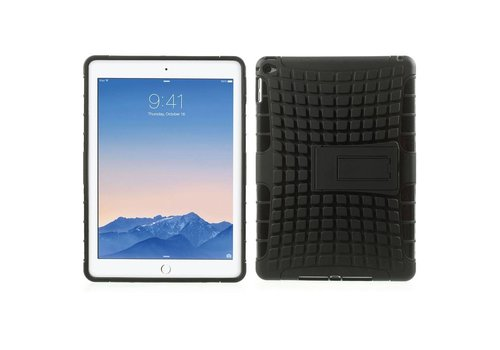 Apple iPad Air 2 - Stevig Hybride Backcover Hoesje Shockproof - Zwart