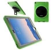GSMWise Apple iPad Air 2 - Heavy Duty TPU & Snap-on PC Cove Draaiende Kickstand & Handstrap - Groen