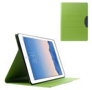 GSMWise Apple iPad Air 2 - PU lederen Case Zand Textuur met Kaarthouder - Groen