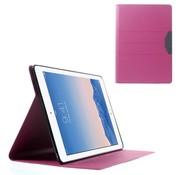 GSMWise Apple iPad Air 2 - PU lederen Case Zand Textuur met Kaarthouder - Roze