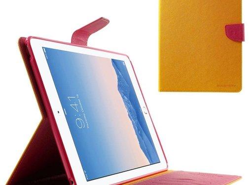 GSMWise Apple iPad Air 2 - PU lederen Case met Kaarthouder Grain - Oranje