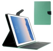 GSMWise Apple iPad Air 2 - PU lederen Case met Kaarthouder Grain - Cyaan/Blauw
