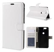 GSMWise Huawei Nexus 6P - PU Lederen Portemonnee Hoesje met Kaarthouder - Wit
