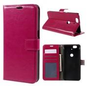 GSMWise Huawei Nexus 6P - PU Lederen Portemonnee Hoesje met Kaarthouder - Magenta Hot Pink
