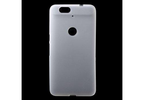 Huawei Nexus 6P Hoesje - Zachte Frosted TPU Anti-slip Back Case - Mat Wit