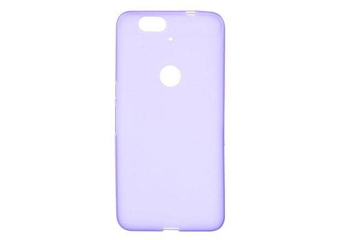 Huawei Nexus 6P Hoesje - Zachte Frosted TPU Anti-slip Back Case - Mat Paars