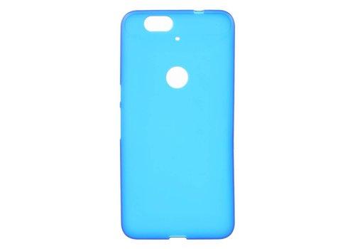 Huawei Nexus 6P Hoesje - Zachte Frosted TPU Anti-slip Back Case - Mat Blauw