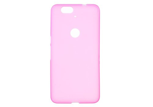Huawei Nexus 6P Hoesje - Zachte Frosted TPU Anti-slip Back Case - Mat Magenta Hot Pink