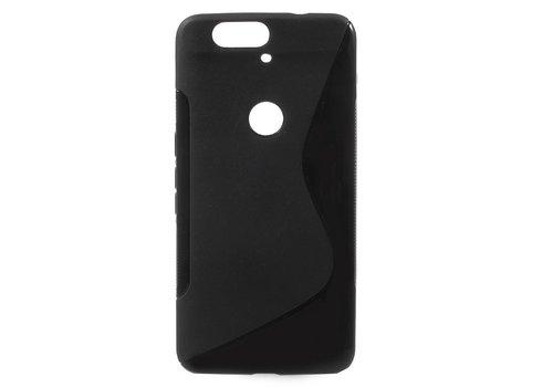 Huawei Nexus 6P - S-Line Flexibel TPU Hoesje Back Case - Zwart