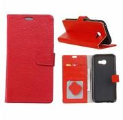 GSMWise Samsung Galaxy Xcover 4 - PU lederen TPU Portemonnee hoesje met Kaarthouder Lychee - Rood