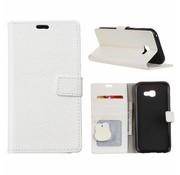 GSMWise Samsung Galaxy Xcover 4 - PU lederen TPU Portemonnee hoesje met Kaarthouder Lychee - Wit