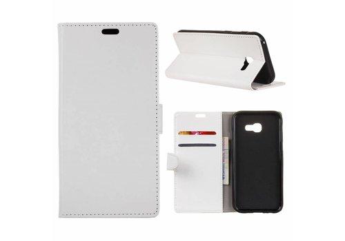 Samsung Galaxy Xcover 4 - PU Lederen Portemonnee Hoesje met Kaarthouder - Wit