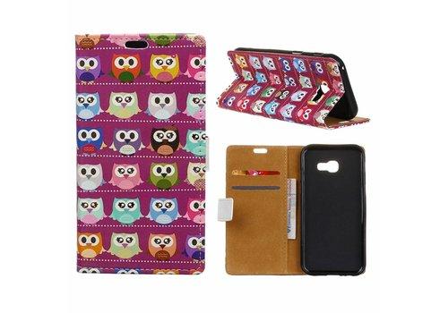 Samsung Galaxy Xcover 4 - Portemonnee Hoesje met Kaarthouder - Lovely Little Owls Design