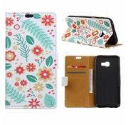 GSMWise Samsung Galaxy Xcover 4 - Portemonnee Hoesje met Kaarthouder - Flowers and Leaves Design