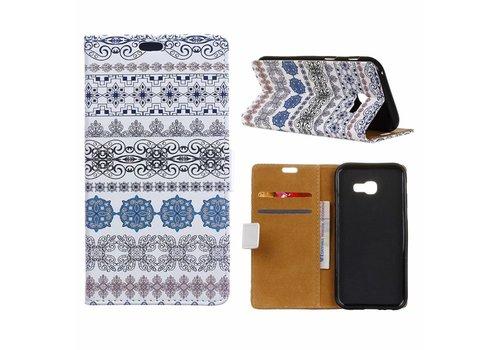 Samsung Galaxy Xcover 4 - Portemonnee Hoesje met Kaarthouder - Arabic Floral Pattern Design