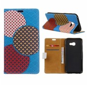 GSMWise Samsung Galaxy Xcover 4 - Portemonnee Hoesje met Kaarthouder - Circles Seamless Pattern Design