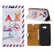 GSMWise Samsung Galaxy Xcover 4 - Portemonnee Hoesje met Kaarthouder - Personal Love Mail Design