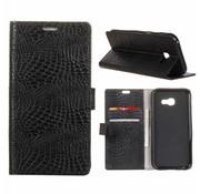 GSMWise Samsung Galaxy Xcover 4 - Portemonnee Hoesje met Kaarthouder Krokodil Leer Design - Zwart