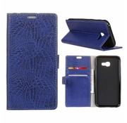 GSMWise Samsung Galaxy Xcover 4 - Portemonnee Hoesje met Kaarthouder Krokodil Leer Design - Blauw