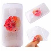 GSMWise Motorola Moto G5 - Zachte TPU Hoesje Back Case - Vivid Flower Design - Transparant