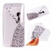 GSMWise Motorola Moto G5 - Zachte TPU Hoesje Back Case - Butterfly Girl Design - Transparant