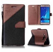GSMWise Samsung Galaxy J5 (2016) - PU Lederen Portemonnee Case met Kaarthouder - Splicing Design - Bruin