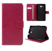 GSMWise Samsung Galaxy Tab A 7.0 Hoesje - Vlinder Design Tablet Cover met Portemonnee en Kaarthouder - Magenta Hot Pink