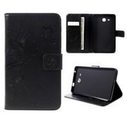 GSMWise Samsung Galaxy Tab A 7.0 Hoesje - Vlinder Design Tablet Cover met Portemonnee en Kaarthouder - Zwart