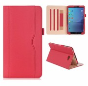 GSMWise Samsung Galaxy Tab A 10.1 (2016) - PU lederen Book Case Hoes Lychee - Rood