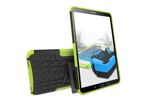Samsung Galaxy Tab A 10.1 (2016) - Stevig Heavy Duty Tablet Case Schokbestendig Met Kickstand - Groen