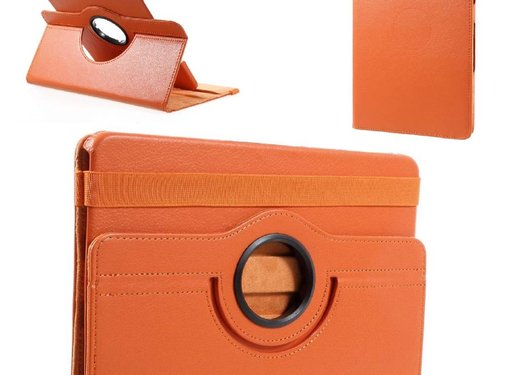 GSMWise Samsung Galaxy Tab S3 9.7 - 360 graden Draaibare Beschermhoes Cover Tablethoes met Multi-stand - Oranje