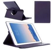 GSMWise Apple iPad Air 2 - 360 graden Draaibare Beschermhoes Cover Tablethoes met Kaarthouder - Paars