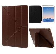 GSMWise Apple iPad Air 2 - Origami Stand PU lederen Tablet Case - Bruin